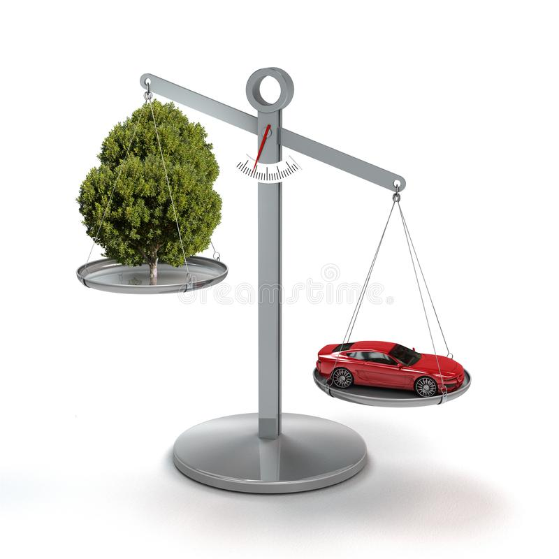 Symbolic image for global warming and climate change due to traffic stock photo