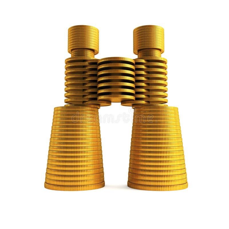 Download Symbolic Money's Binoculars Stock Illustration - Image: 11340524