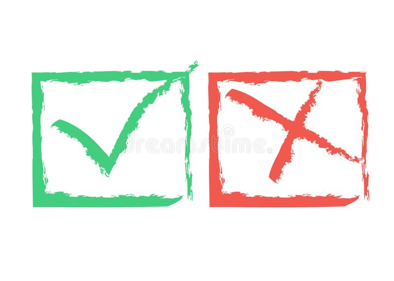 Funky Approval Marks royalty free illustration
