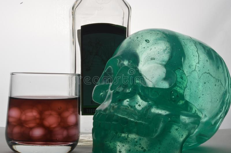Symbolic photo about the dangers of alcoholism stock photography