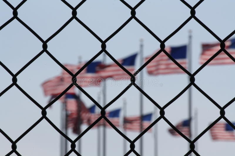 A symbolic representation of the united states and foreigners. In washington dc royalty free stock photo
