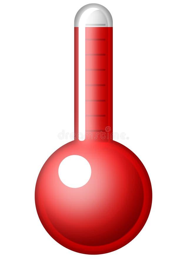 Symbolic Thermometer Stock Photo