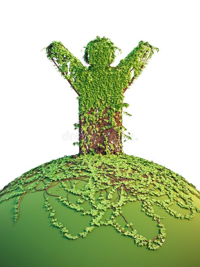 Download Symbolic Tree Man On The Planet Stock Illustration - Illustration of garden, nature: 19977992