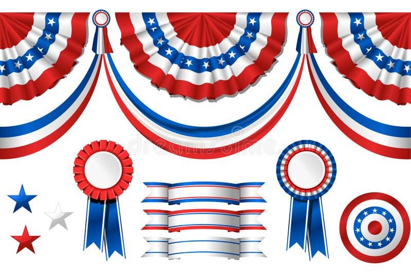 Symbolics americano nacional ilustração do vetor