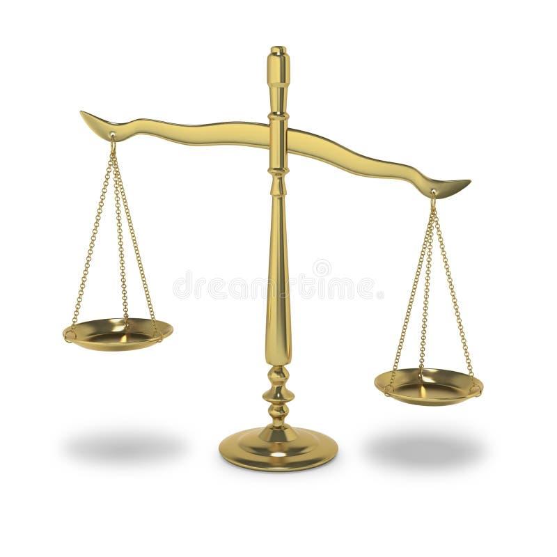 symboliczny sprawiedliwości balansowy prawo ilustracja wektor