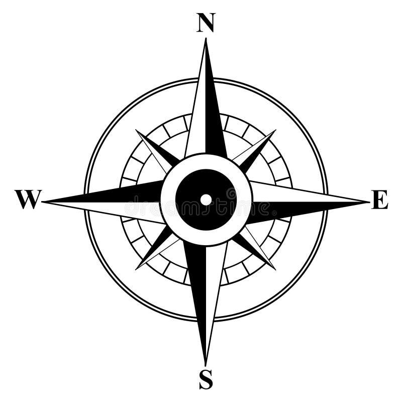 Symboliczny wizerunek kompas zdjęcie stock