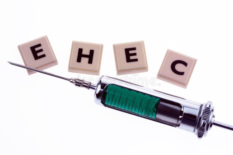 Symbolique pour la maladie d'EHEC photos libres de droits