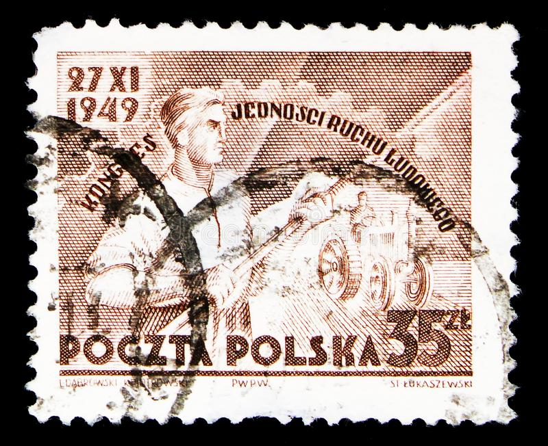 Symbolisch vom Verband Polen, Kongreß der Leute \ 'der s-Bewegung FO lizenzfreie stockfotos