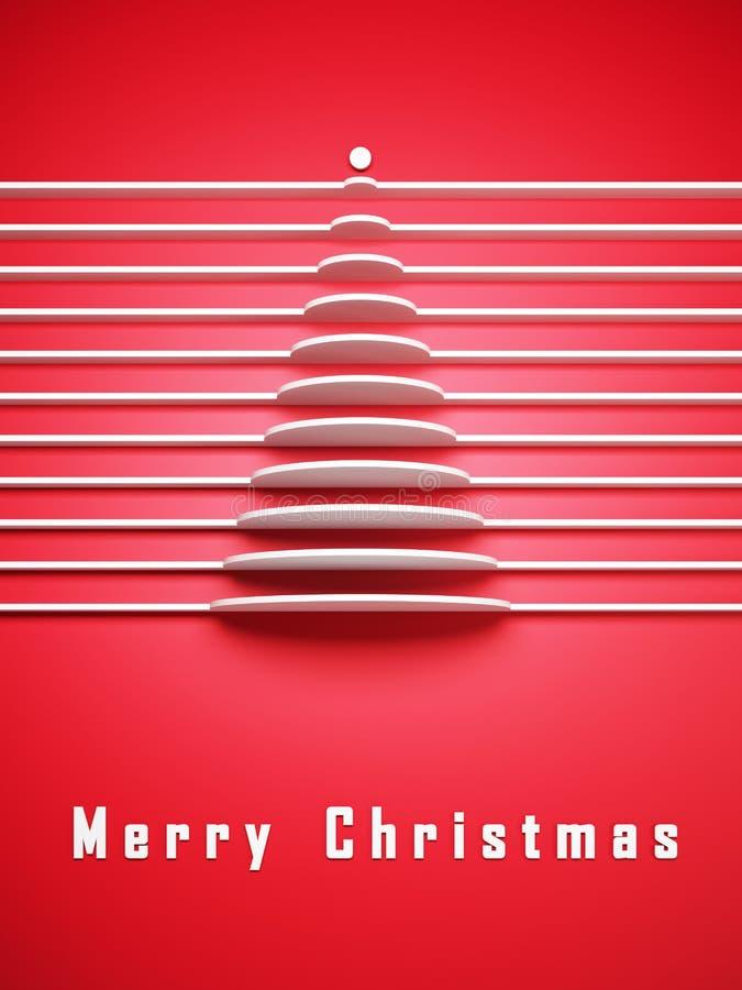 Symbolische 3d Kerstboom stock illustratie