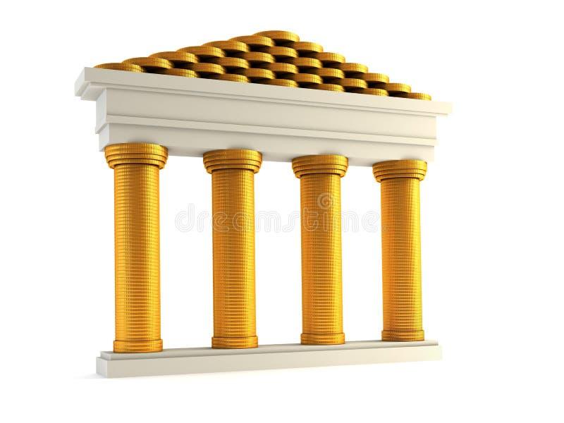 Symbolische bank royalty-vrije illustratie