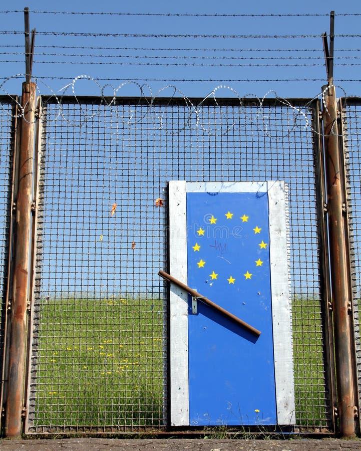 Symbolische Europese Grens royalty-vrije stock fotografie