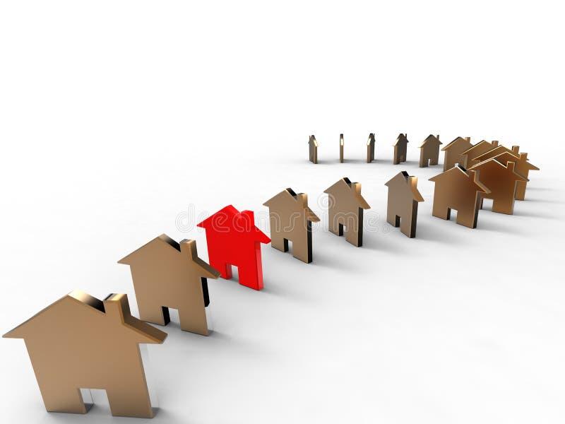 Symbolische huizen vector illustratie