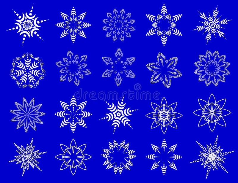 Symbolische Schneeflocken. lizenzfreie abbildung