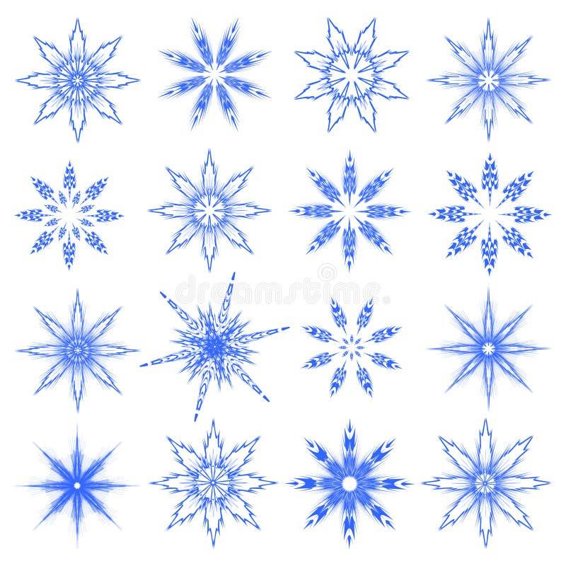 Symbolische Schneeflocken. vektor abbildung