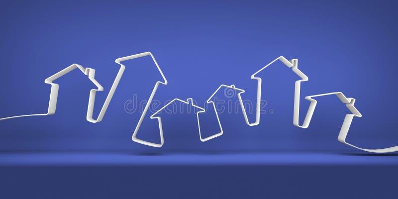 Symbolische stad vector illustratie