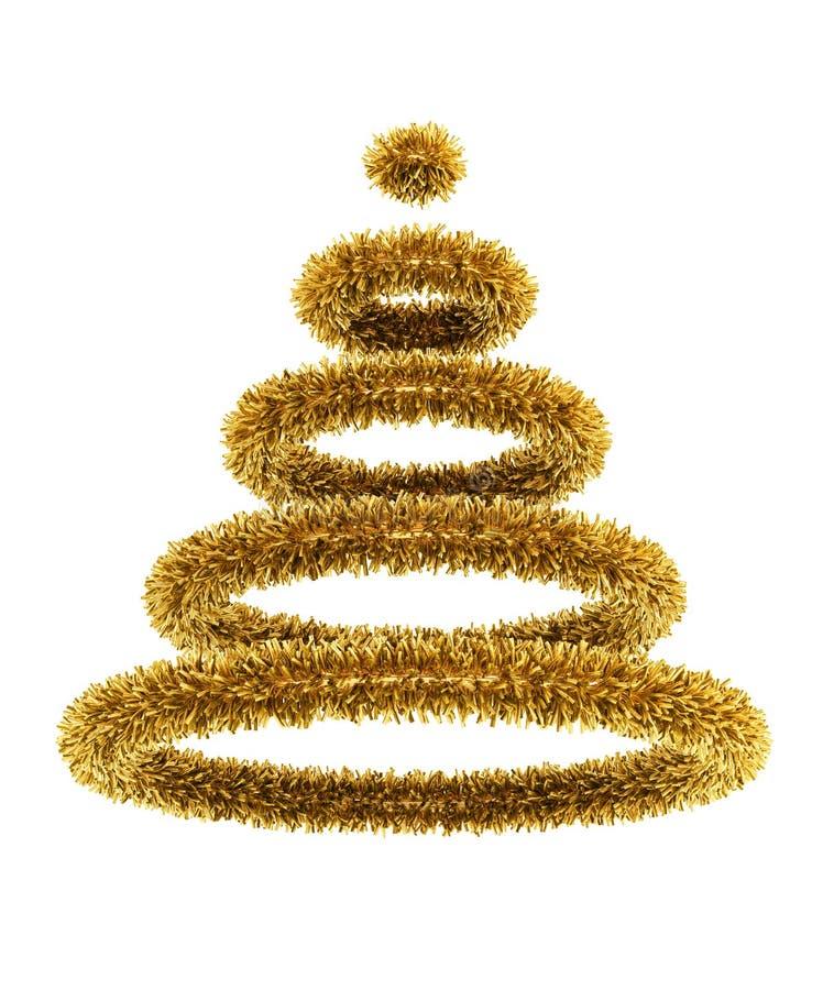symbolischer 3d Weihnachtsbaum lizenzfreie abbildung