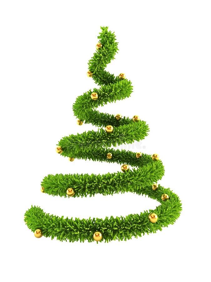 symbolischer Baum des neuen Jahres 3d vektor abbildung