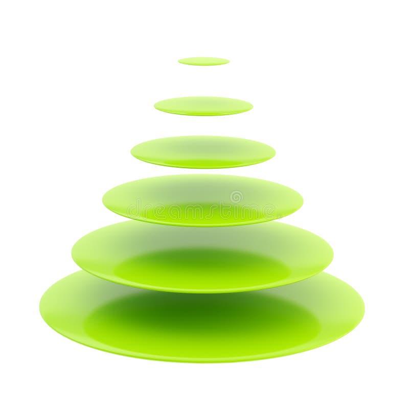 Symbolischer glatter Weihnachtsbaum lizenzfreie abbildung