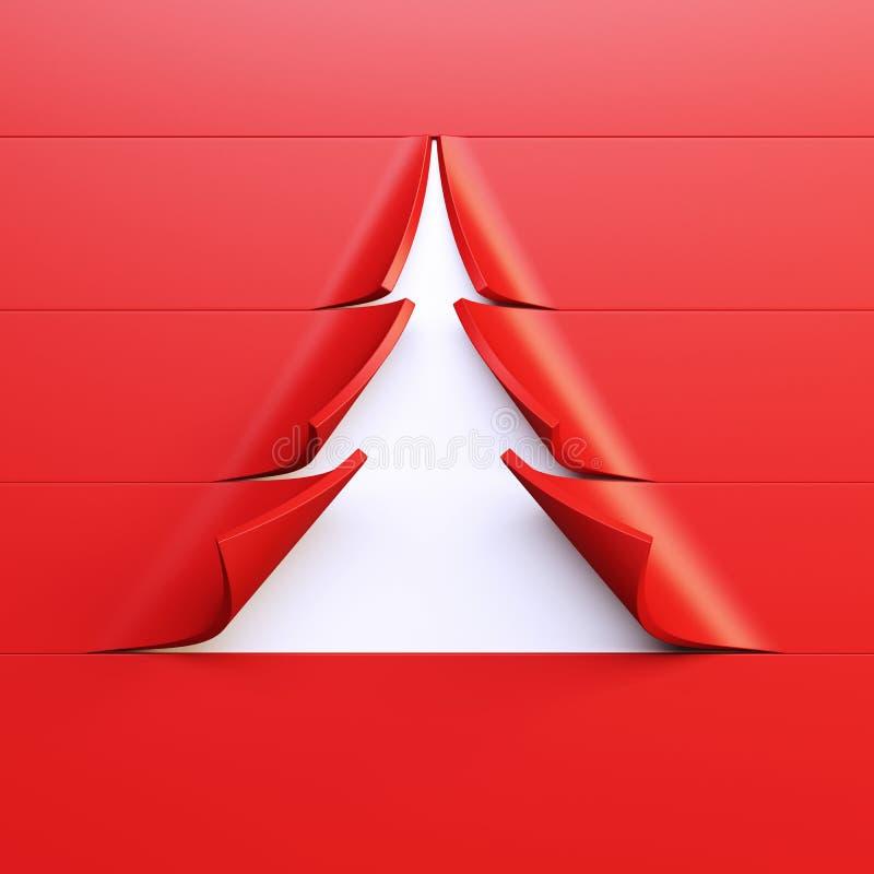 symbolischer Tannenbaum des neuen Jahres 3d stock abbildung
