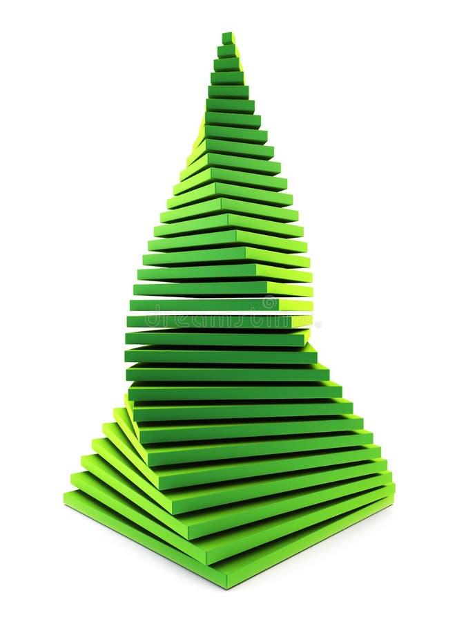 symbolischer Tannenbaum des neuen Jahres 3d vektor abbildung