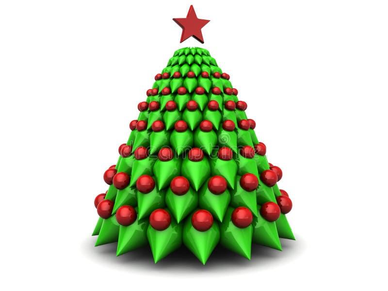 Symbolischer Weihnachtsbaum vektor abbildung