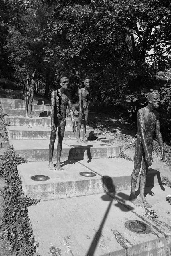 Symbolisiert, wie politische Gefangene vom Kommunismus betroffen waren lizenzfreies stockfoto