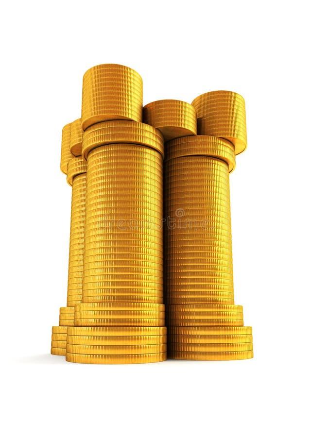 symboliskt torn för pengar s royaltyfri illustrationer