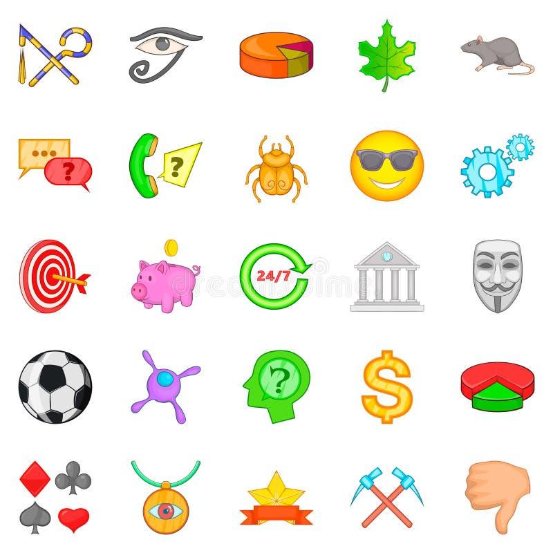 Symbolizuje ikony ustawiać, kreskówka styl ilustracji