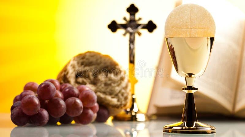 Symbolkristendomenreligion, ljus bakgrund, genomdränkt conce arkivfoton