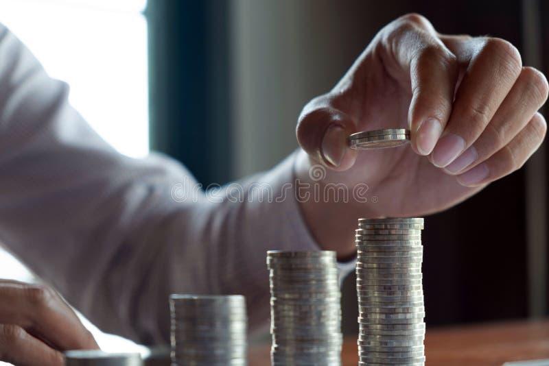 Symbolmyntaff?r, finans, finansiell tillv?xt, investering som konsulterar, finans, investering, aff?r, arbete, redovisning royaltyfri foto