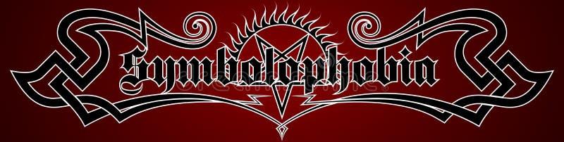 Symbolophobia. royalty free illustration