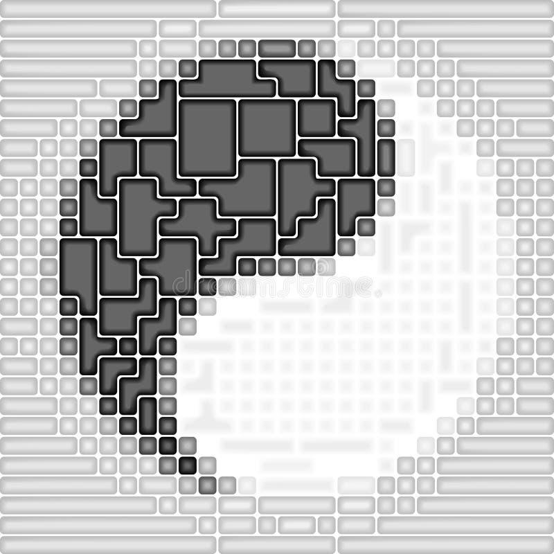 Symbolr del Yin-Yang di arte illustrazione vettoriale
