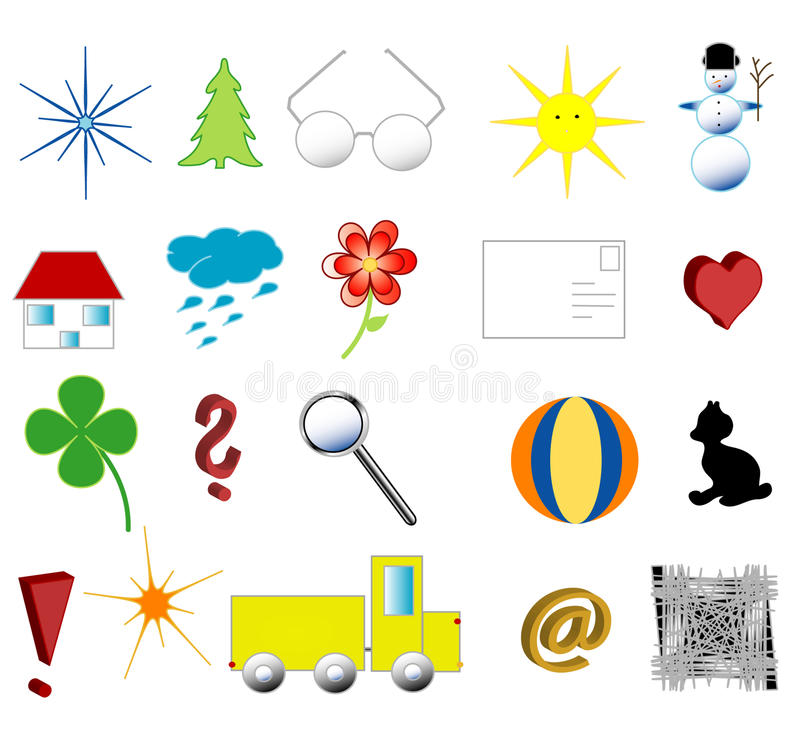 Download Symbols stock vector. Illustration of spruce, game, colors - 15175925