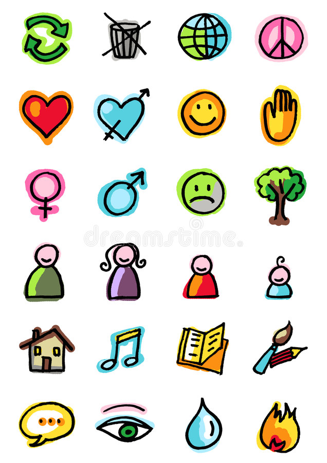 Download Symbols stock vector. Image of smile, music, peace, house - 2610215