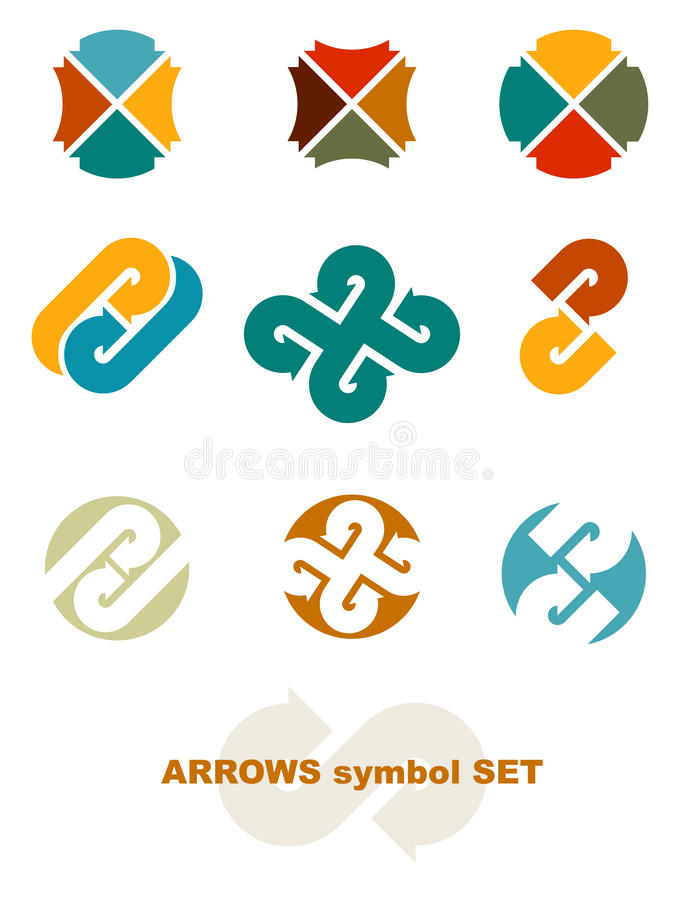 Download Symbols with arrows. stock vector. Illustration of abstract - 22143579