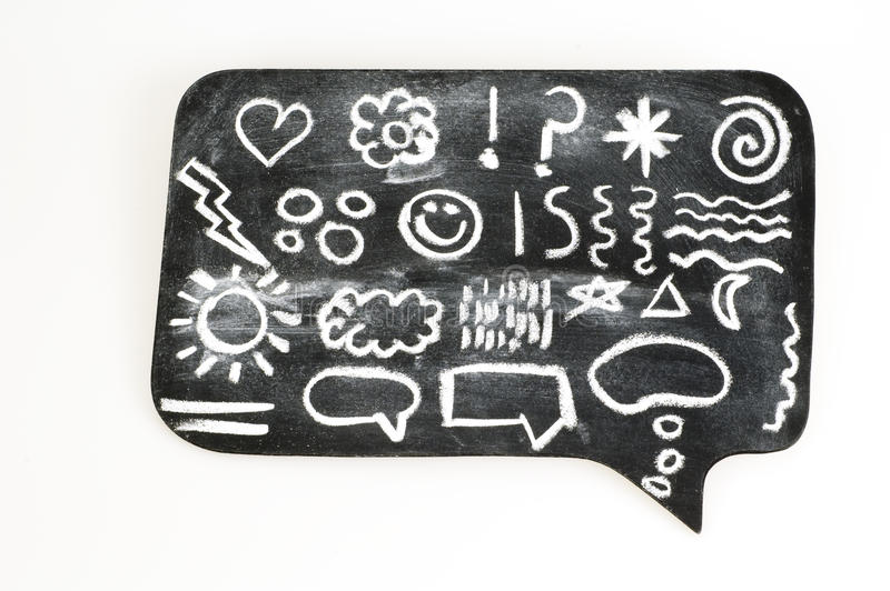 Download Symbols on Chalkboard stock photo. Image of background - 15025982