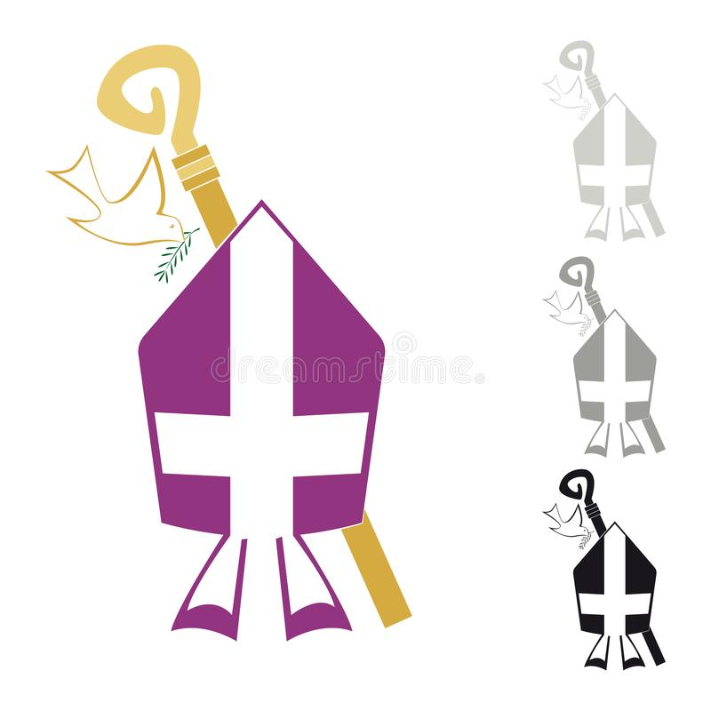 Symbols Of The Christian Religion Stock Vector Illustration Of