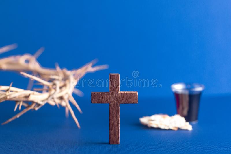 Symbols of Christianity and the Communion royalty free stock image