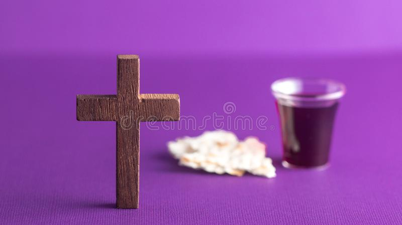 Symbols of Christianity and the Communion royalty free stock photography