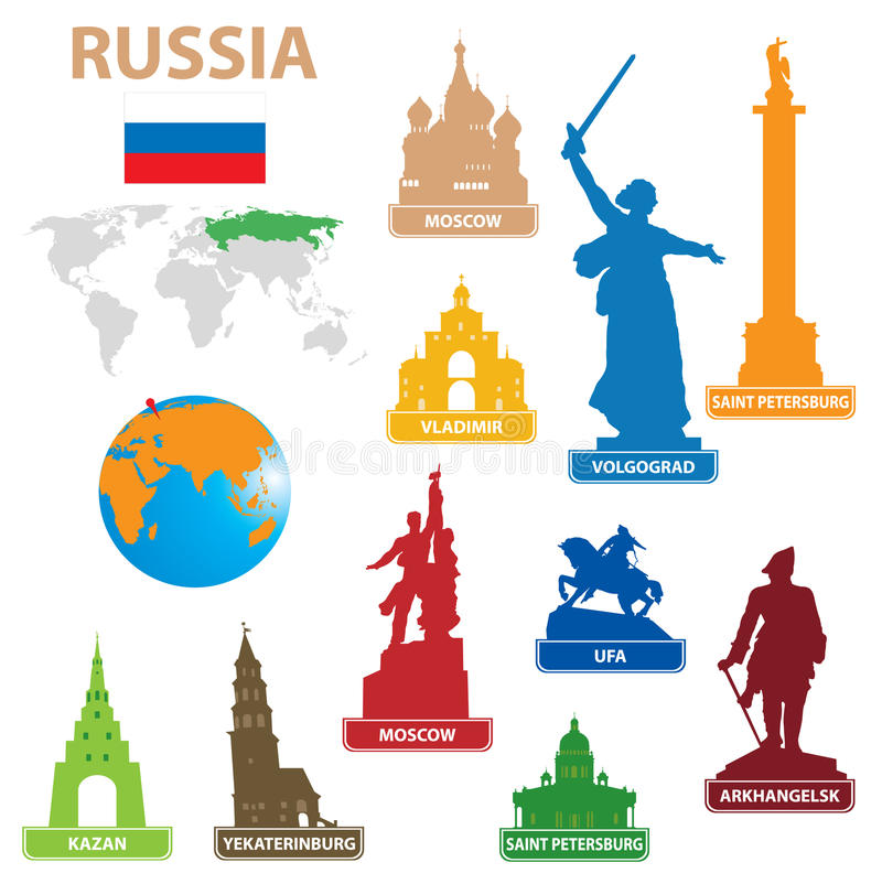 Download Symbols city to Russia stock vector. Illustration of monument - 21878458