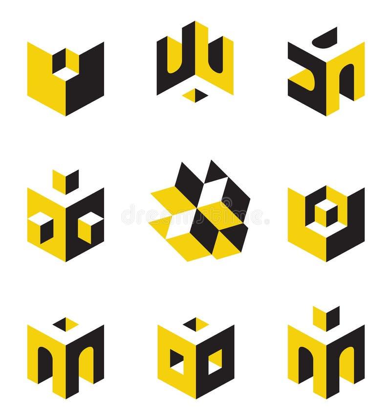 Symbols on construction topics royalty free illustration