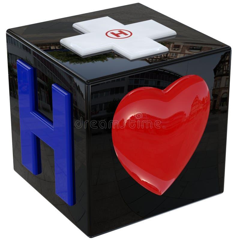 Download Symbols of hospital stock illustration. Image of health - 32145756
