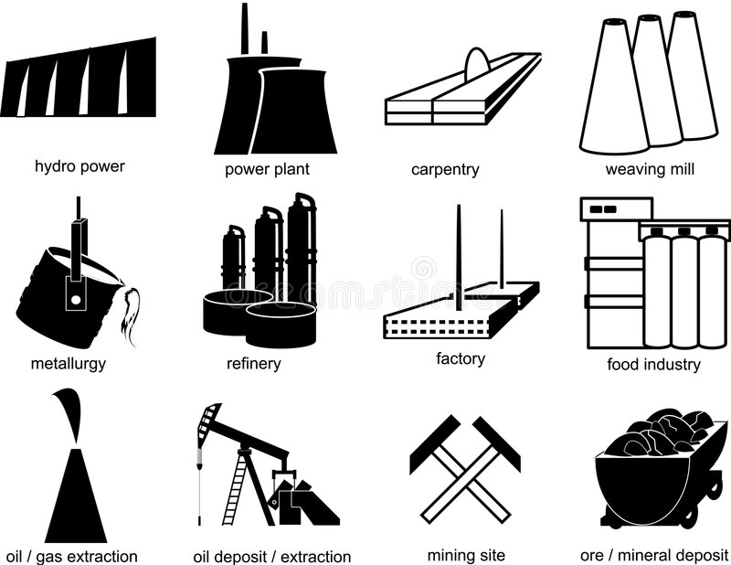 Download Symbols Of Industrial Objects Stock Vector - Image: 4362267