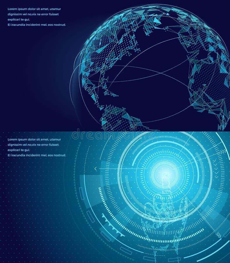 Symbols Of International Communication Poster Stock Vector