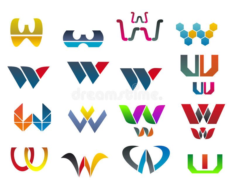 Download Symbols of letter W stock vector. Image of emblem, perspective - 21096801