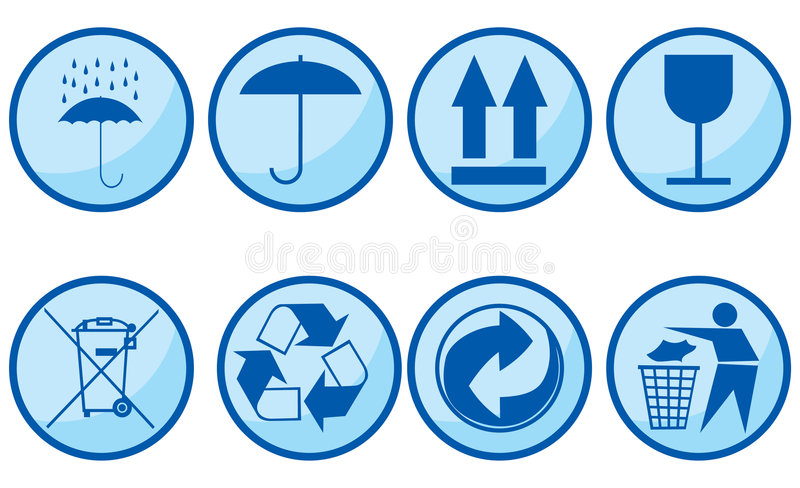 Download Symbols For Packing Subjects. Editorial Stock Image - Image: 6068824