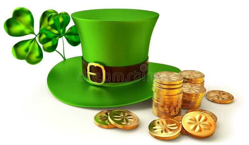 Download Symbols of Patrick day stock illustration. Image of grass - 25904990