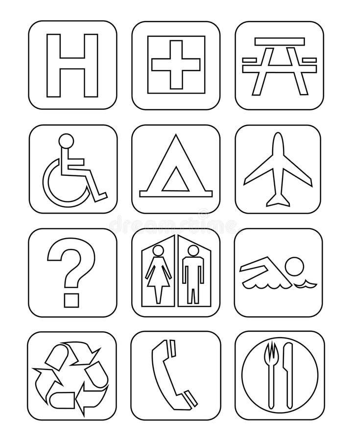 Download Symbols stock illustration. Illustration of swimming - 33734004