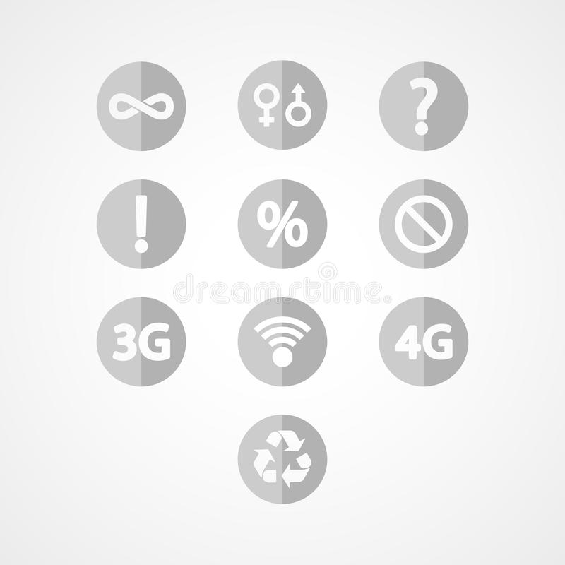 Download Symbols set web icon stock vector. Image of mobility - 43572025
