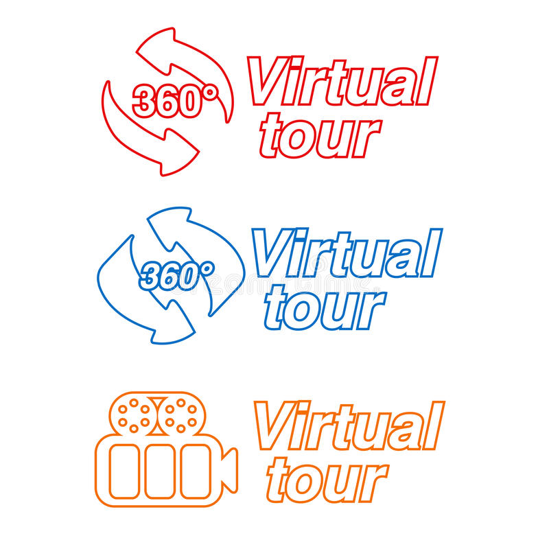Symbols - Signs For Virtual Tour Stock Photography